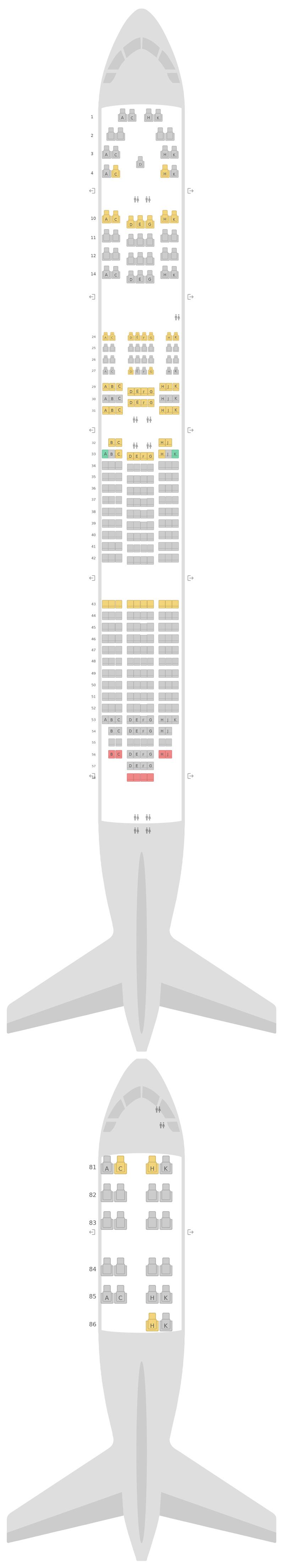 Seat Map Lufthansa Boeing 747-400 (744) v2