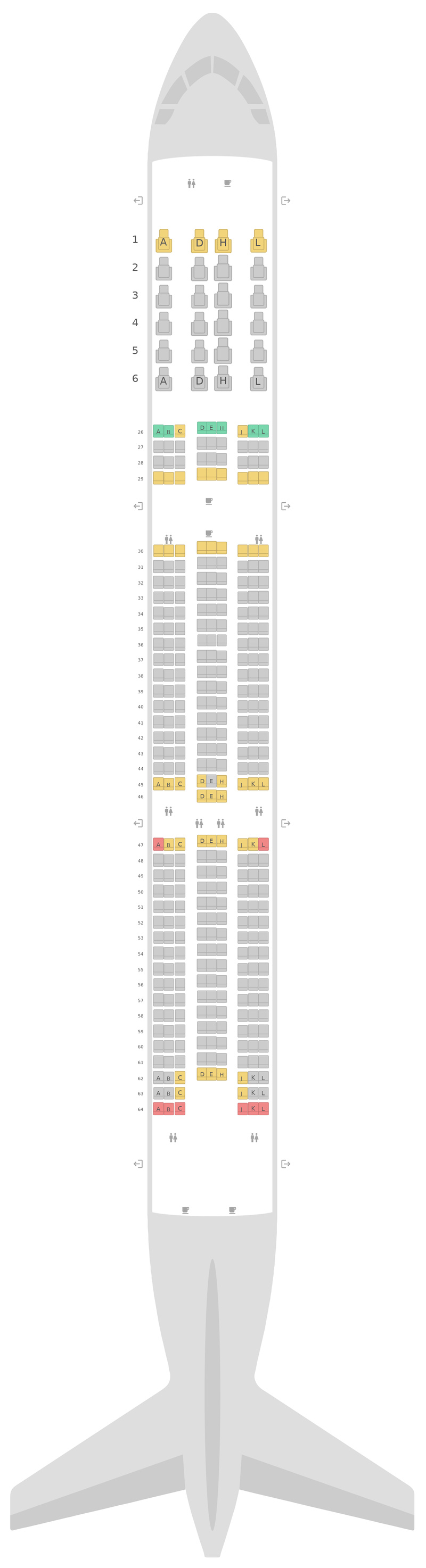 Seat Map Saudi Arabian Airlines Boeing 787-10
