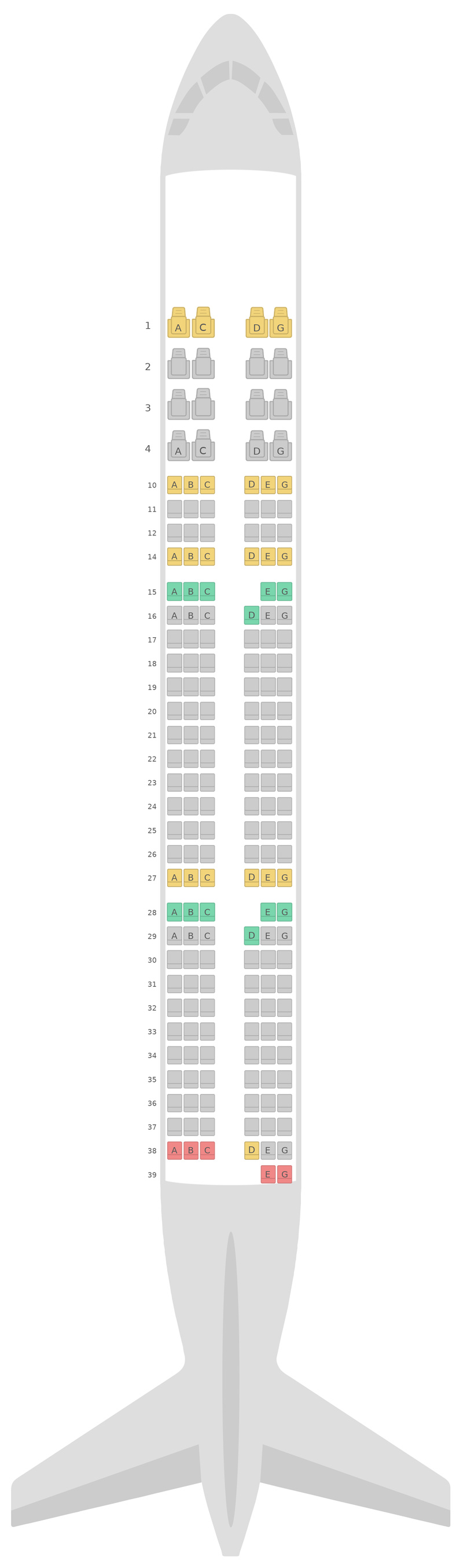 Seat Map Airbus A321 v2 Vietnam Airlines