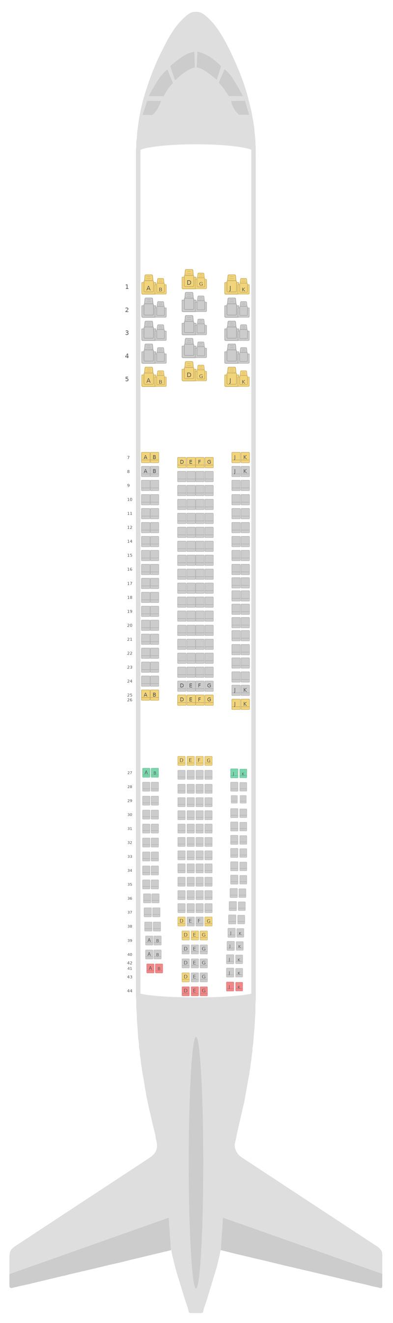 Схема салона Аэробус А330-300 (333) v1 Китайские авиалинии