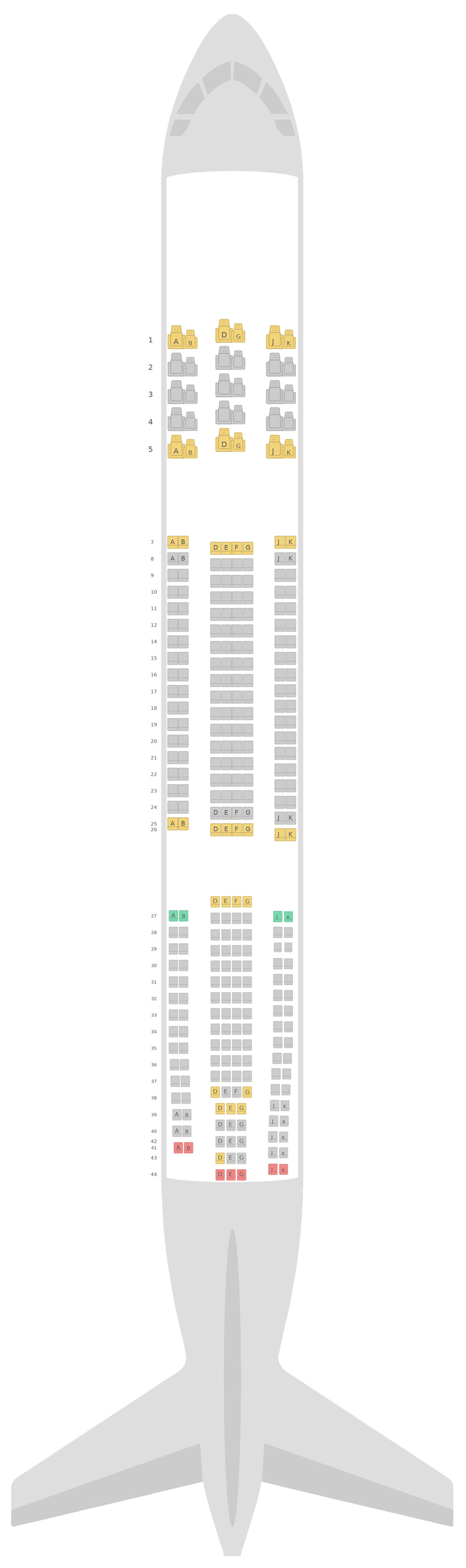 Mapa de asientos Airbus A330-300 (333) v1 China Airlines