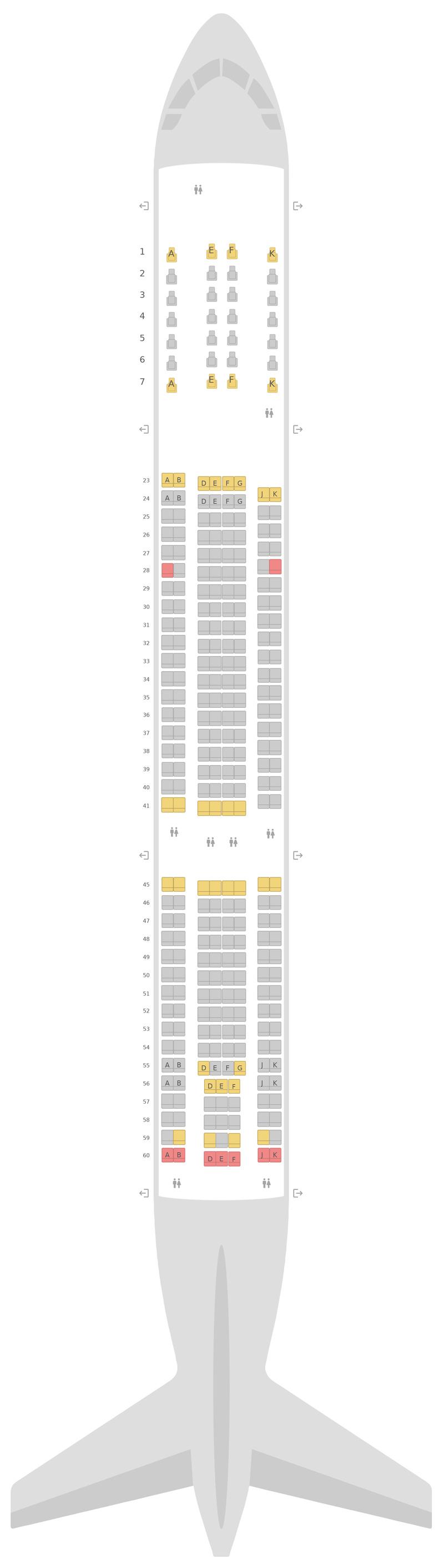 Seat Map Qantas Airbus A330-300 (333)