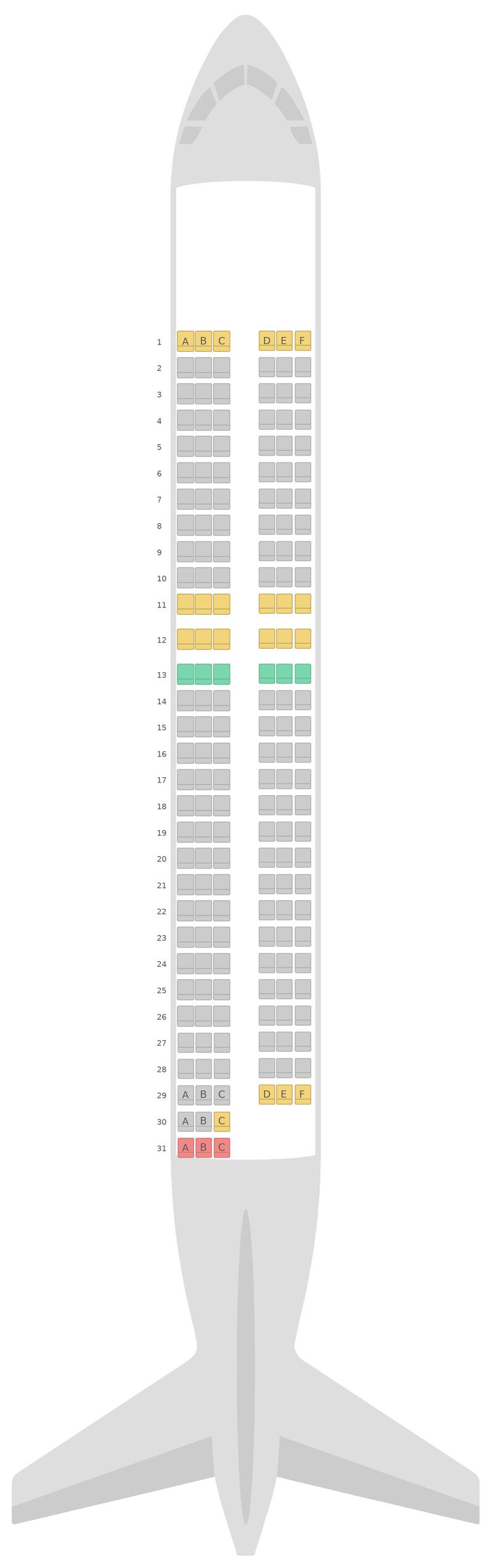 Sitzplan Airbus A320 v1 EasyJet