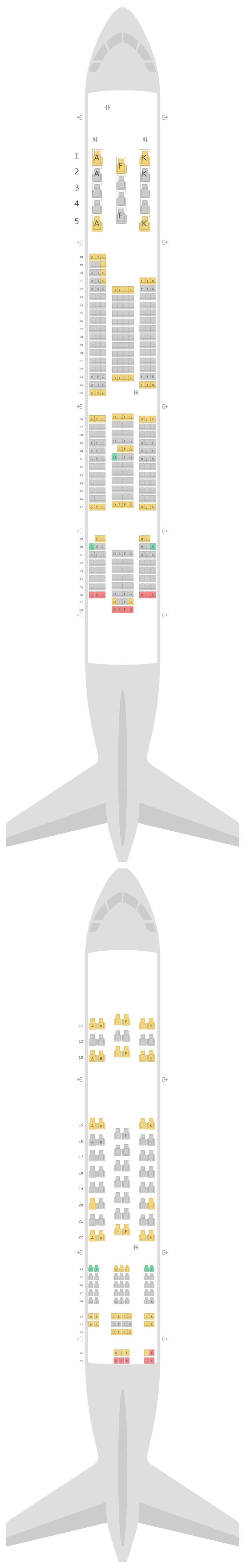 Seat Map Qantas Airbus A380-800 (388) v1