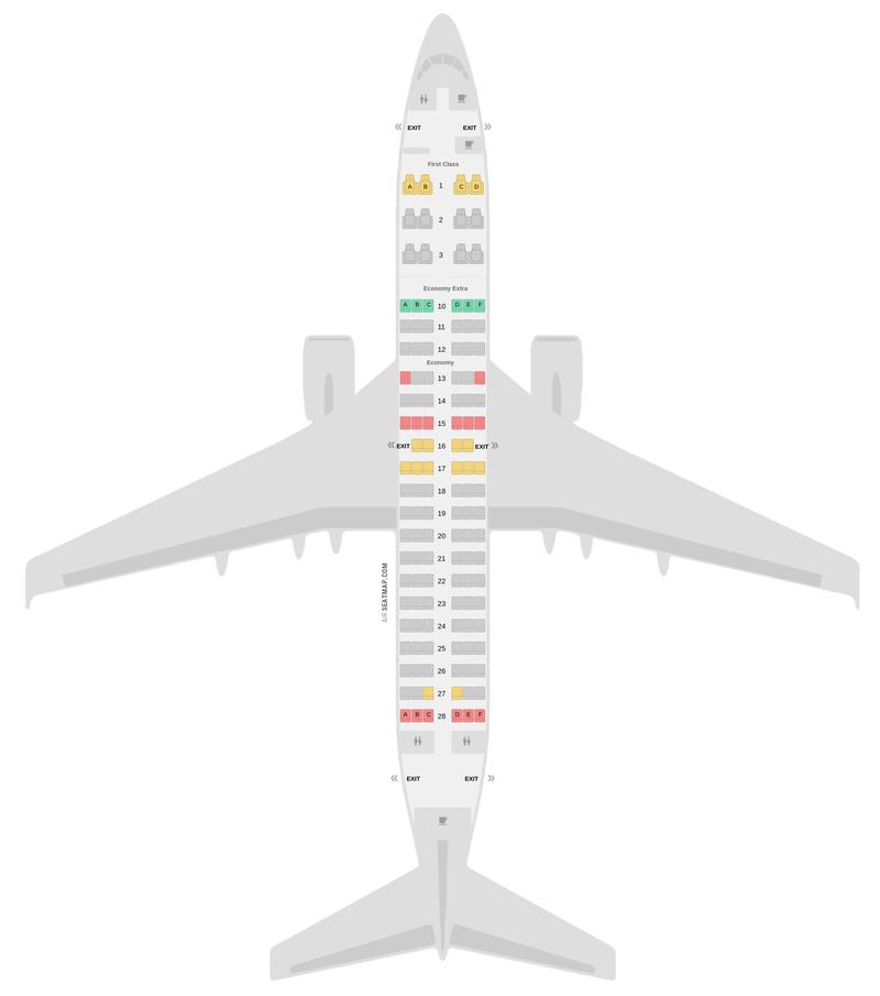 Mapa de asientos Boeing 737-700 Delta Air Lines