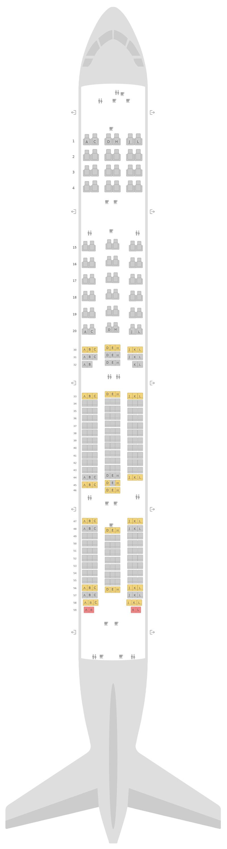Схема салона Боинг 777-300ER (77W) v3 Saudi Arabian Airlines