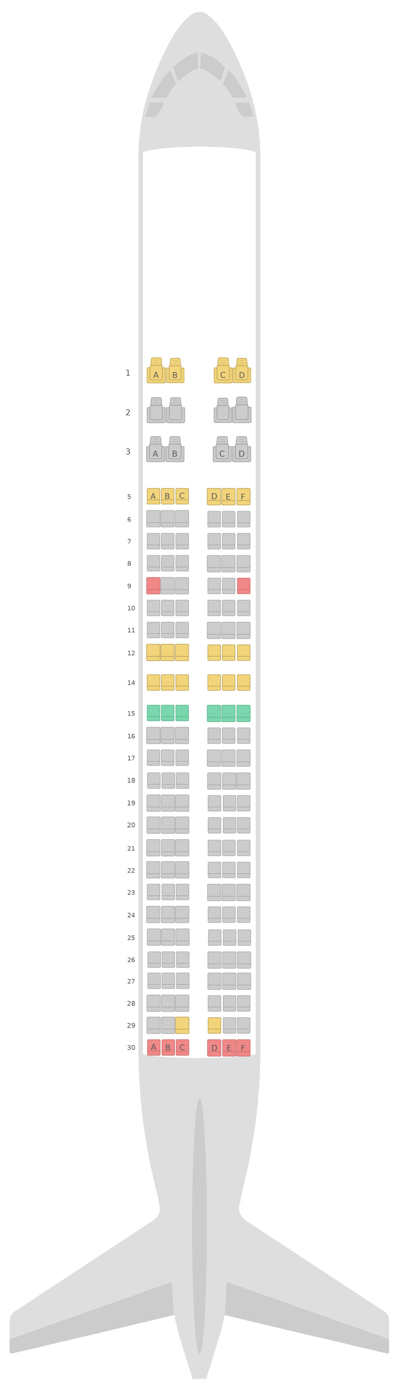 Seat Map SilkAir Boeing 737-800 (738)