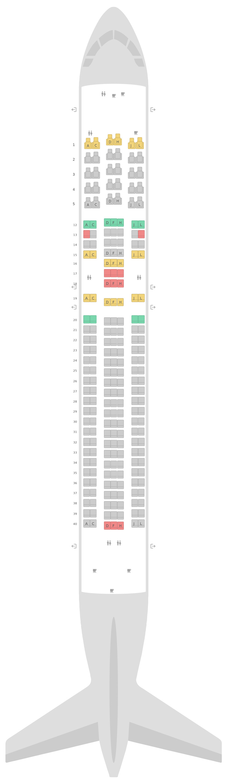 Схема салона Боинг 767-300ER v2 LATAM