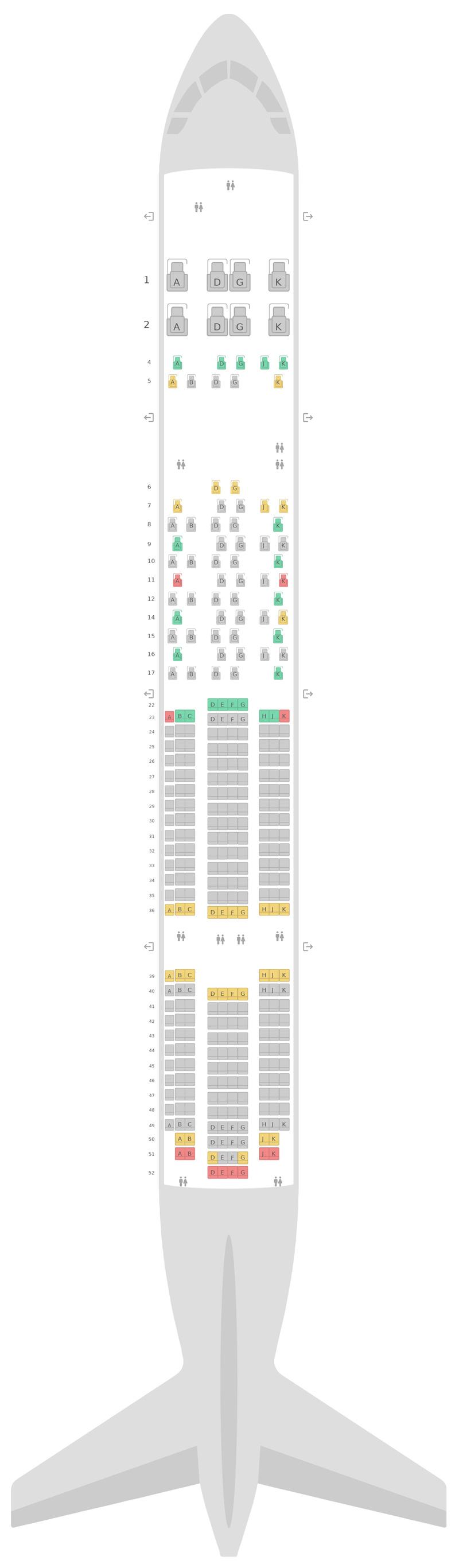 Схема салона Боинг 777-300ER (77W) Swiss International Air Lines