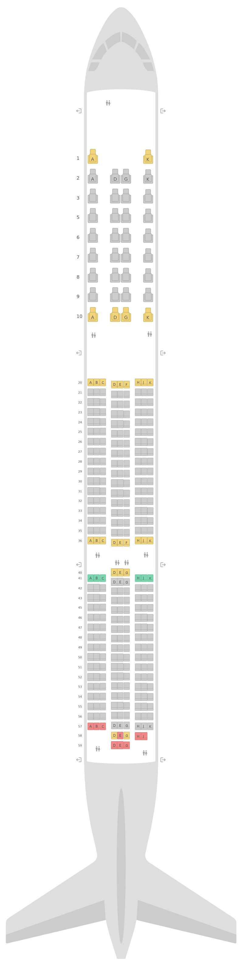 Mapa de asientos Boeing 787-10 EVA Air