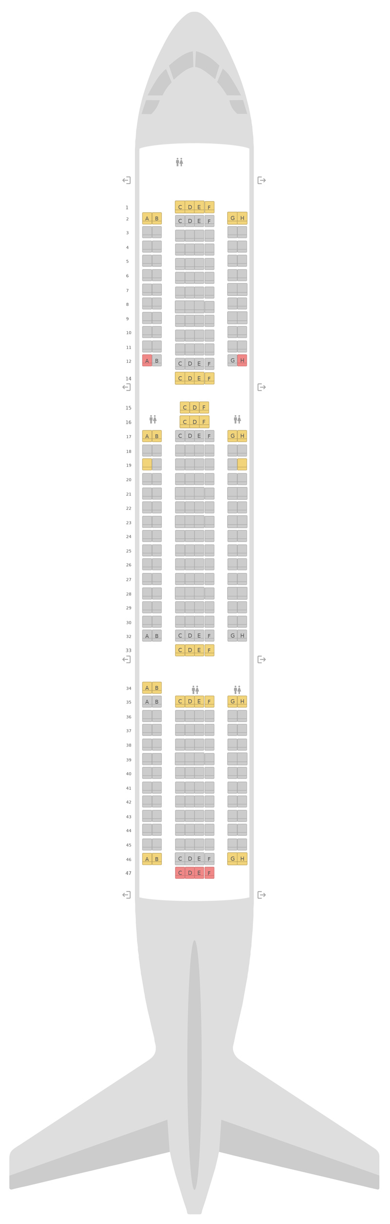 Mapa de asientos Boeing 767-300ER TUI Airways