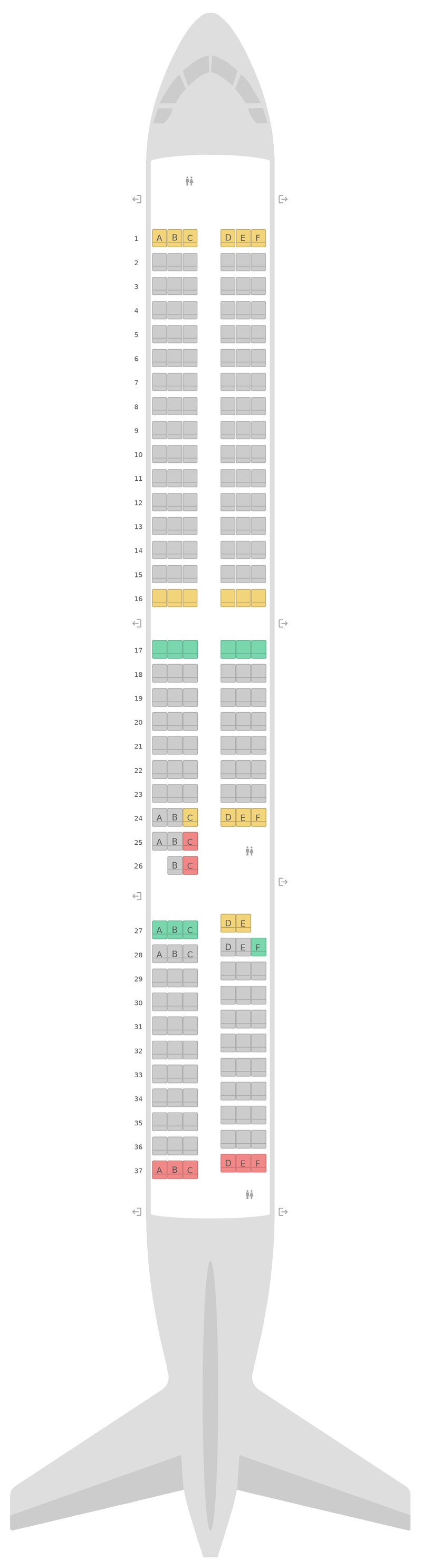 Seat Map Air New Zealand Airbus A321neo
