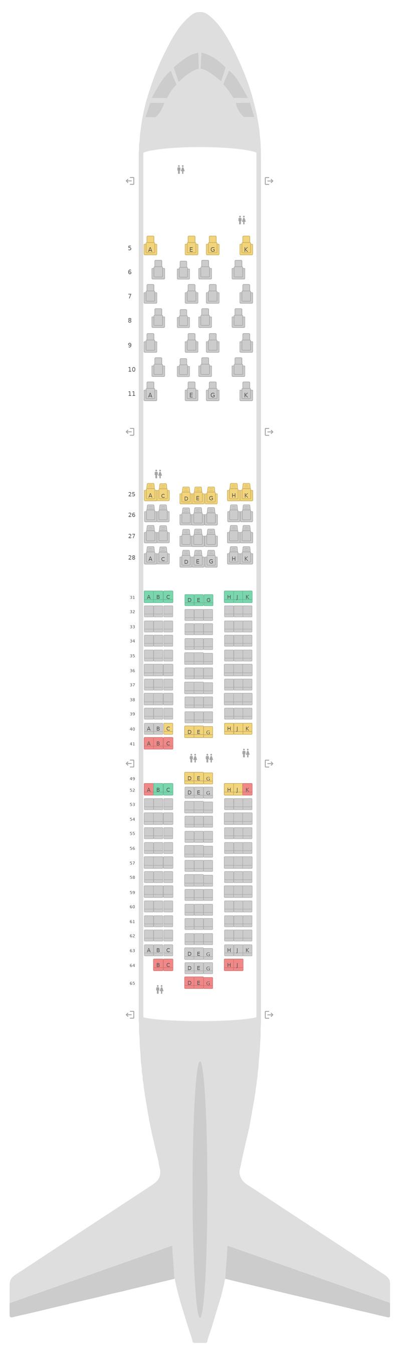 Схема салона Боинг 787-9 (789) v2 China Southern Airlines