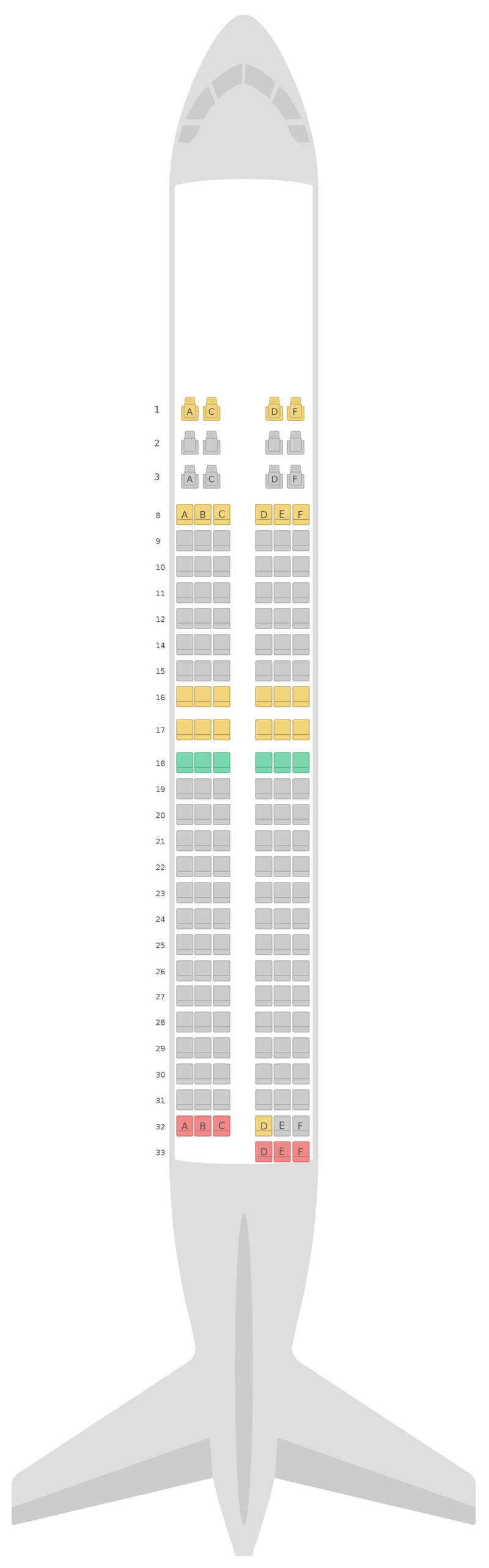 Seat Map Royal Air Maroc Boeing 737-800 (738)