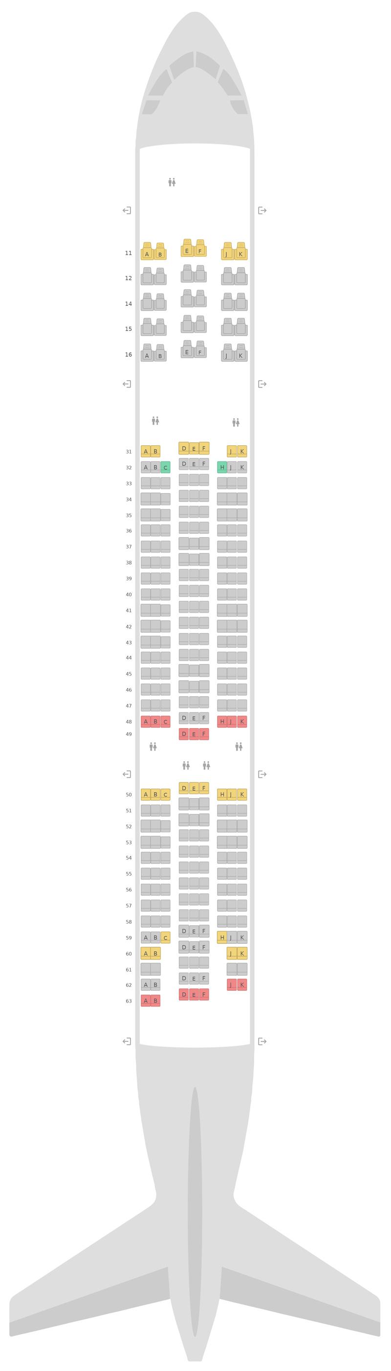 Sitzplan Boeing 777-200 (777) Thai Airways