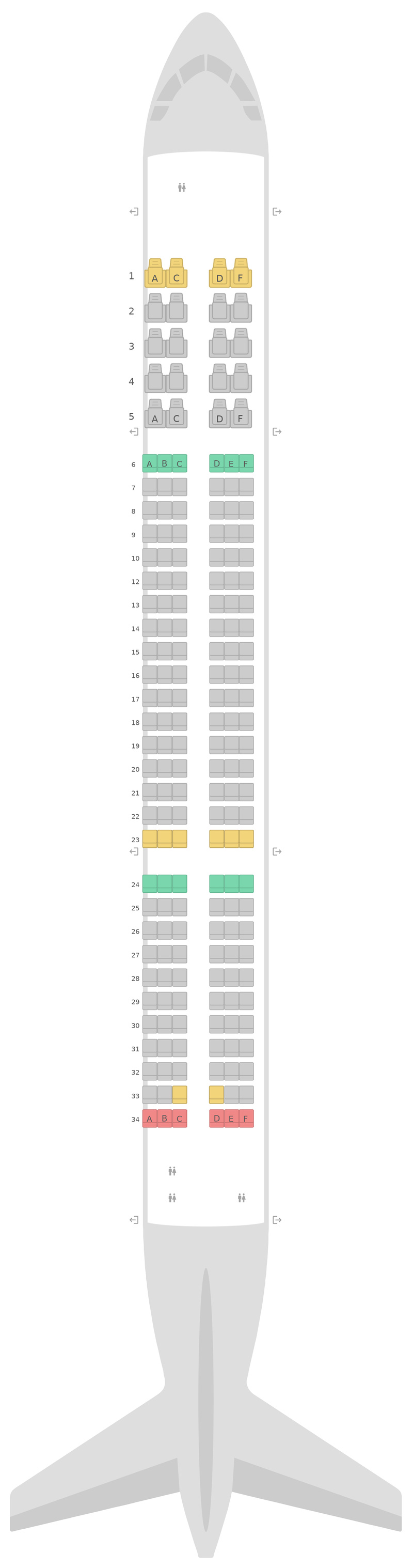 Sitzplan Airbus A321neo Turkish Airlines