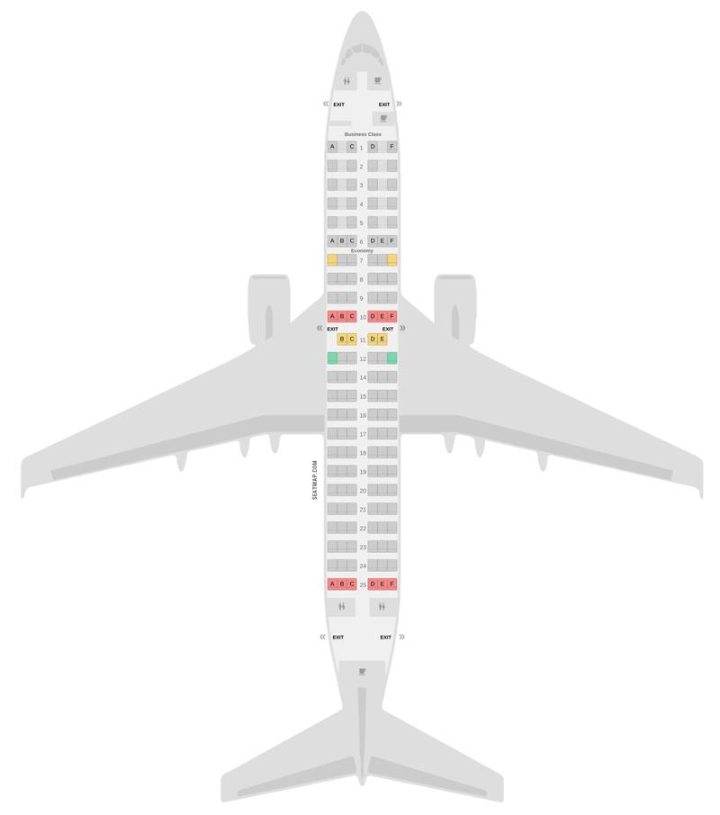 Mapa de asientos Boeing 737-700 KLM
