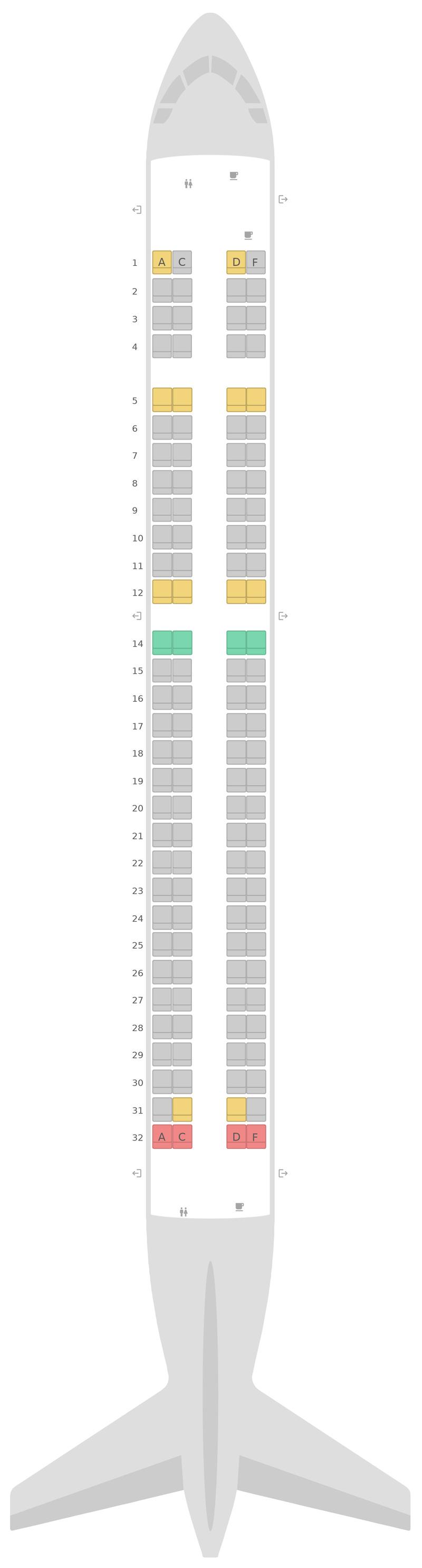 Seat Map Air Dolomiti Embraer E195
