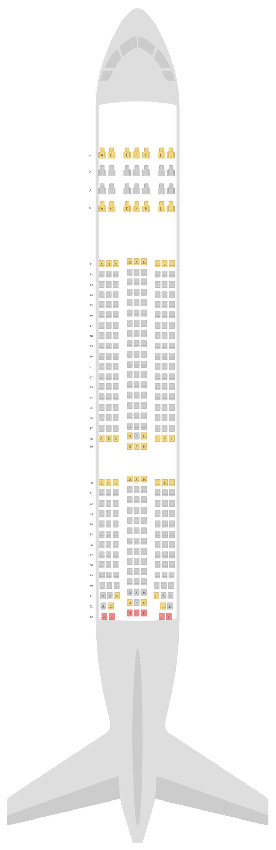 Mapa de asientos Boeing 777-200LR Ethiopian Airlines