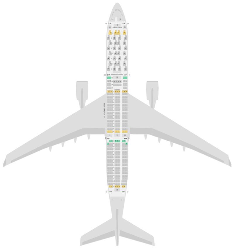 Sitzplan Airbus A350-900 (359) Iberia