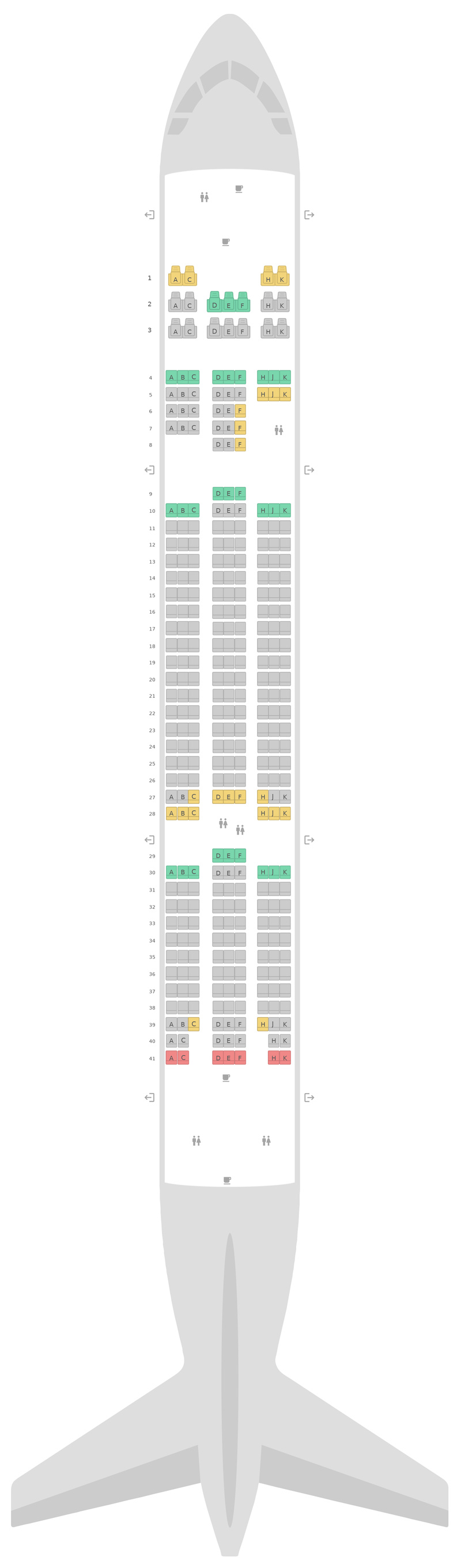 Seat Map Scoot Boeing 787-8 (788) v2
