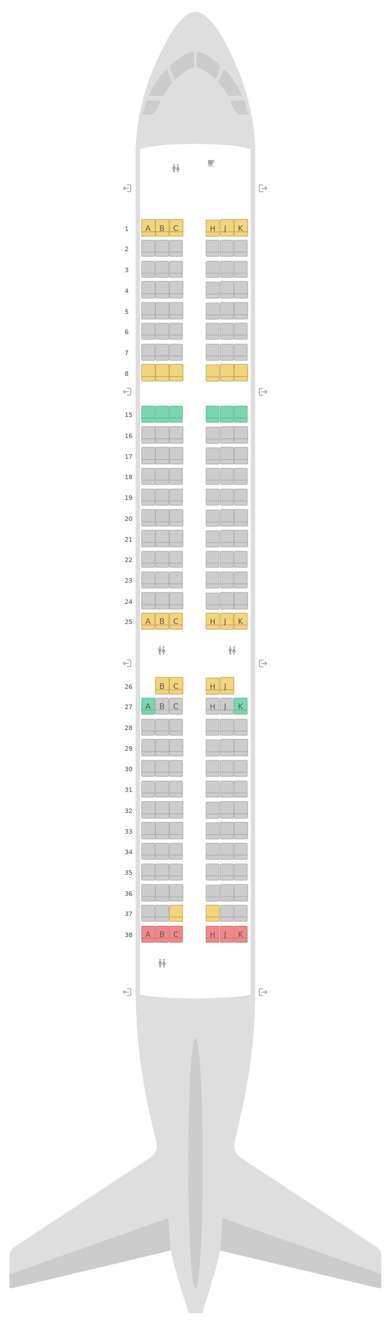 Sitzplan Airbus A321 Air Transat