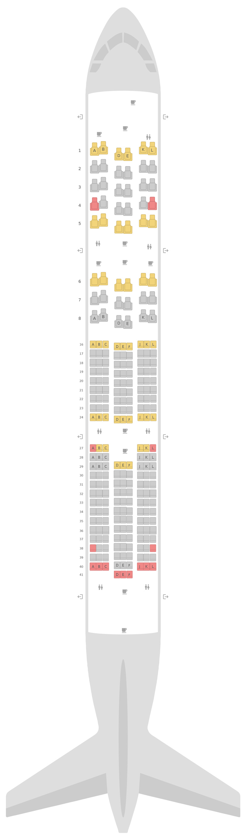 Seat Map United Boeing 787-9 (789)