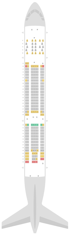 Схема салона Аэробус А330-200 (332) v1 Aer Lingus