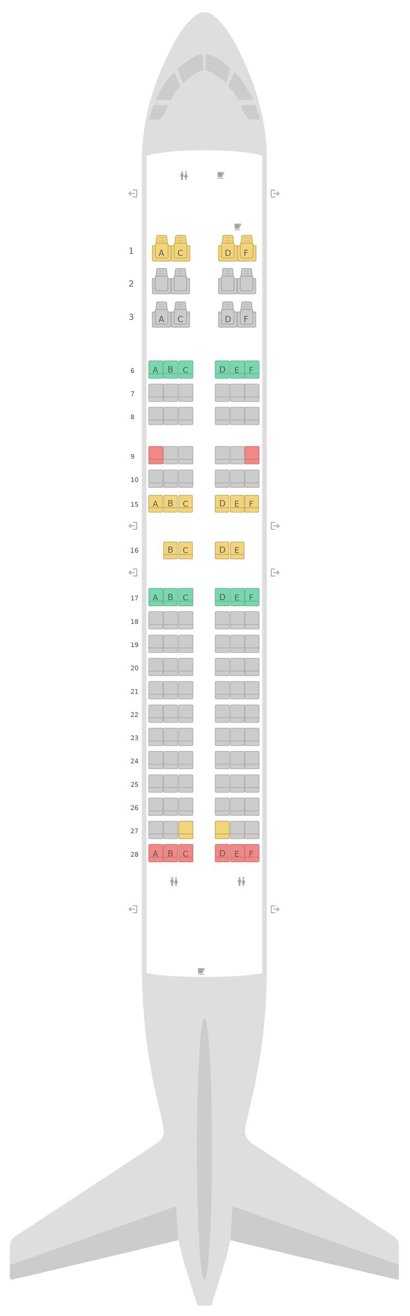 Seat Map Alaska Airlines Boeing 737-700