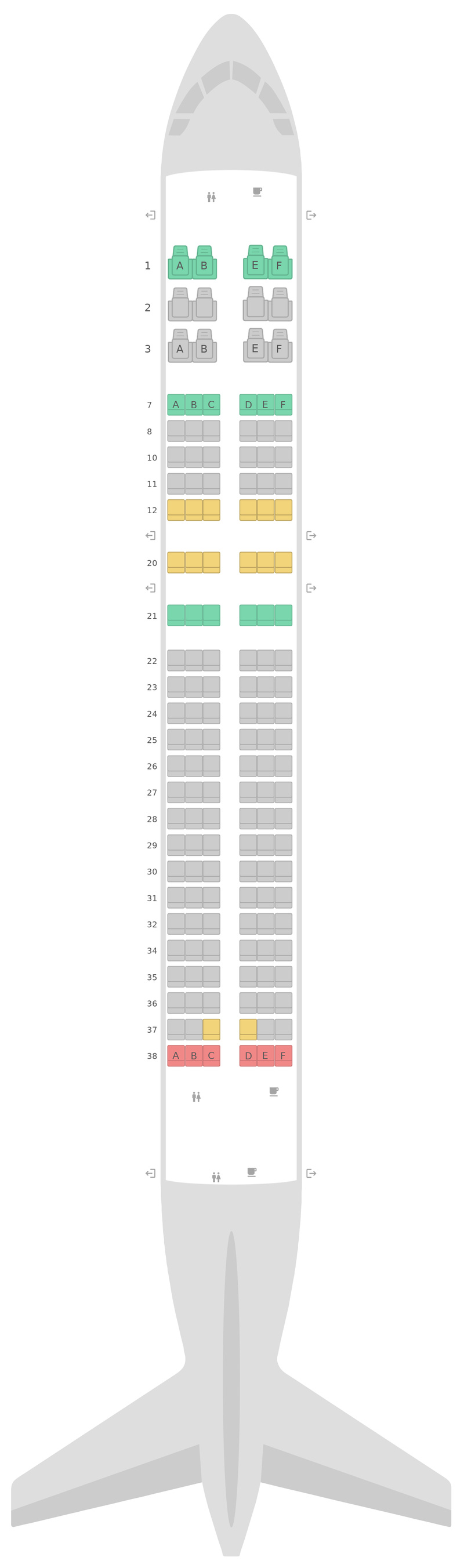 Seat Map United Airbus A320