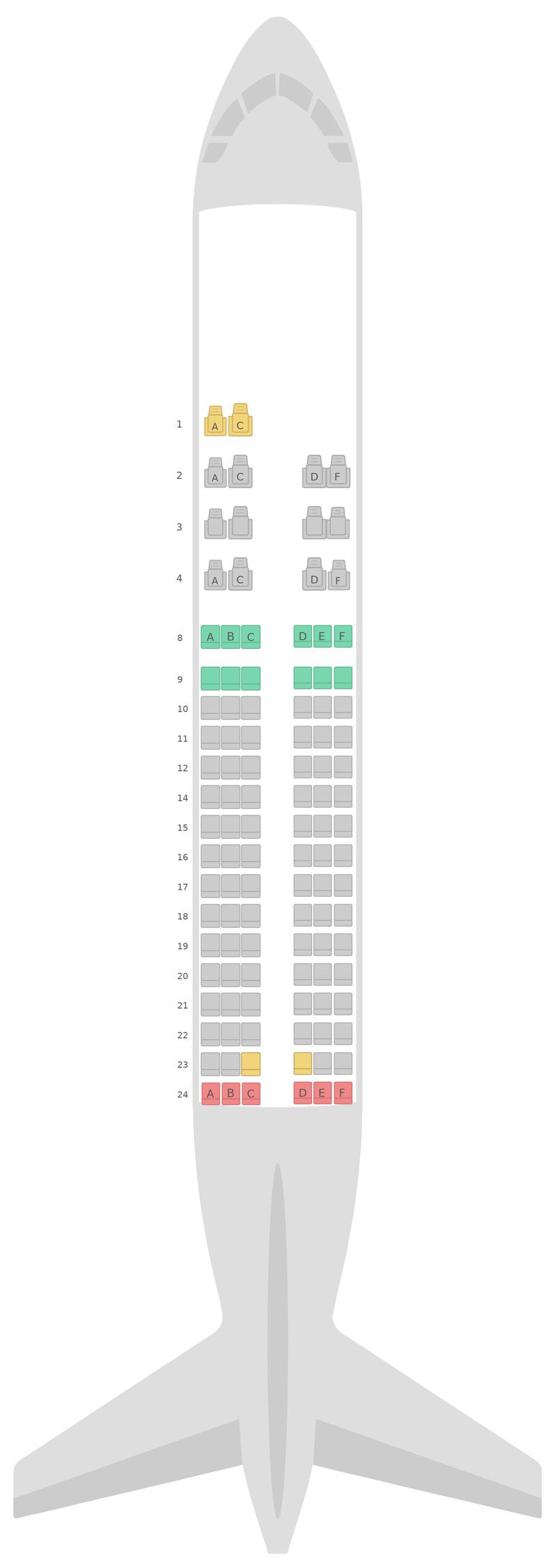 Mapa de asientos Airbus A320 v2 Gulf Air