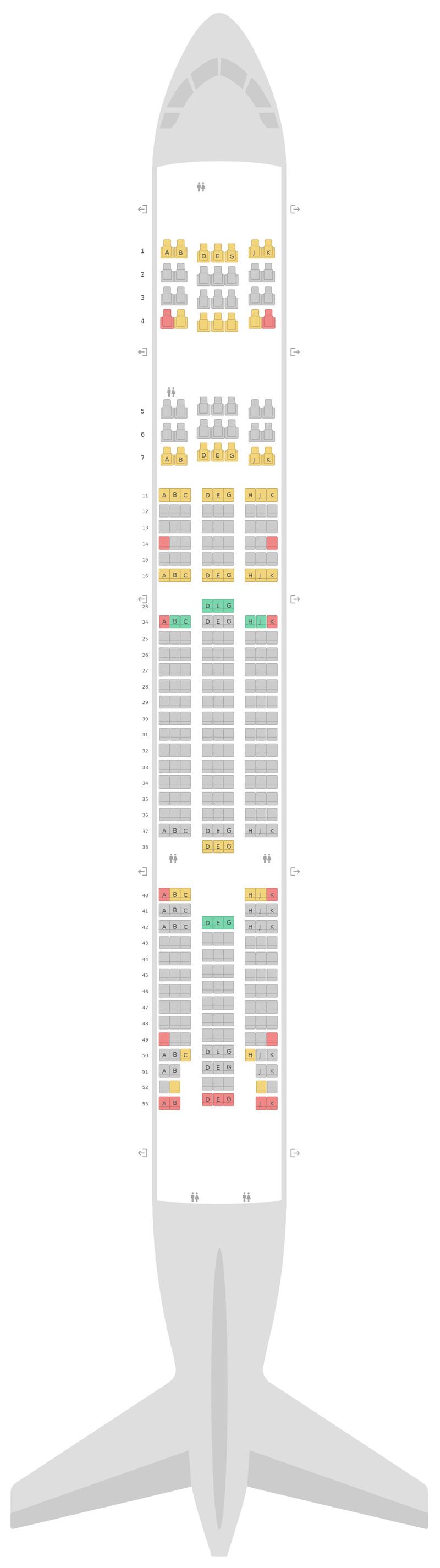 Sitzplan Boeing 777-300ER (77W) Turkish Airlines