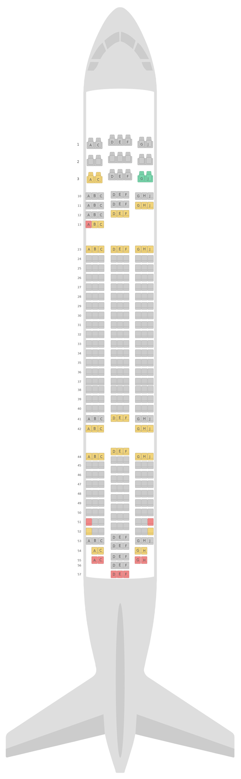 Sitzplan Boeing 787-8 (788) Jetstar Airways
