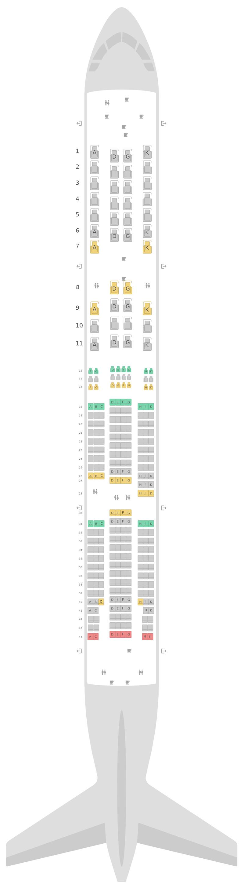 Схема салона Боинг 777-200LR Эйр Канада