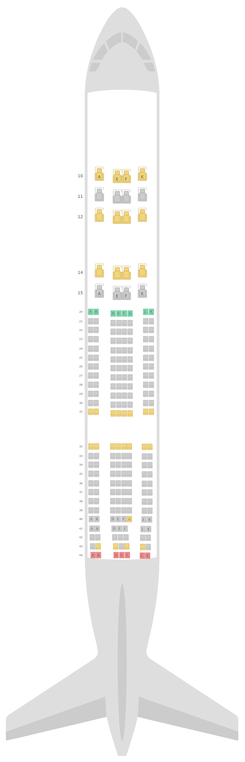 Seat Map Airbus A330-200 (332) Oman Air