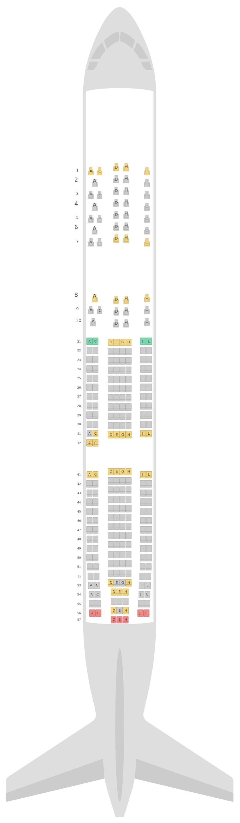 Схема салона Аэробус А330-300 (333) v1 Финнэйр