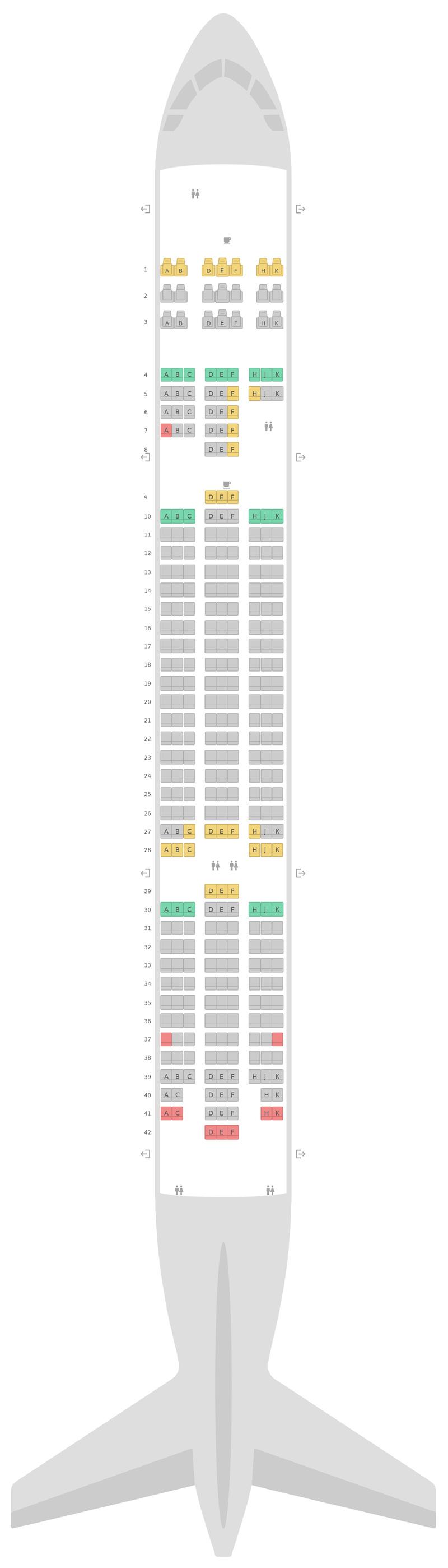 Sitzplan Boeing 787-8 (788) v1 Scoot