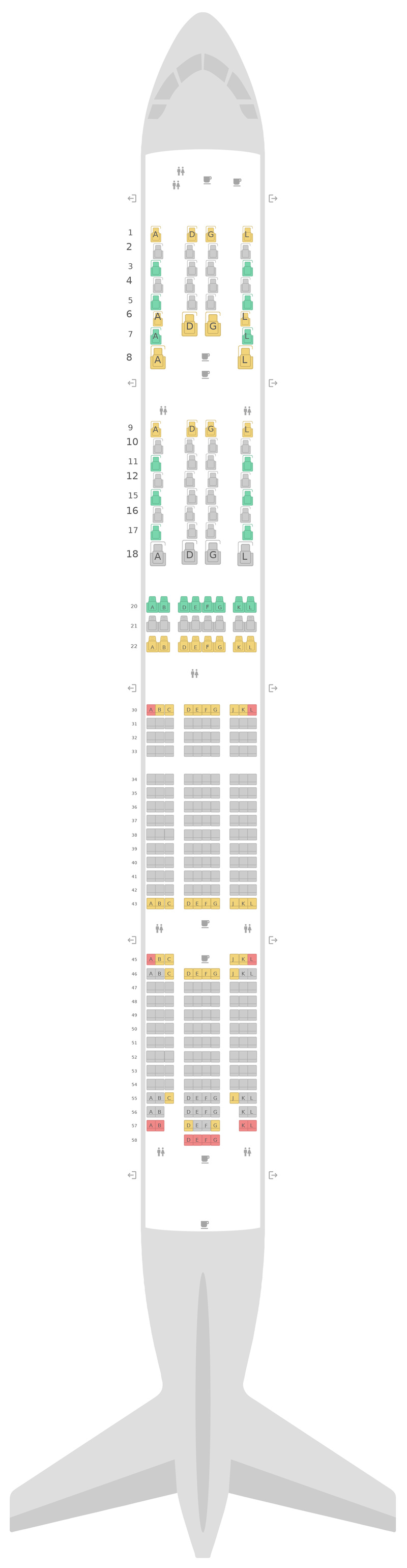 Seat Map United Boeing 777-300ER (77W)