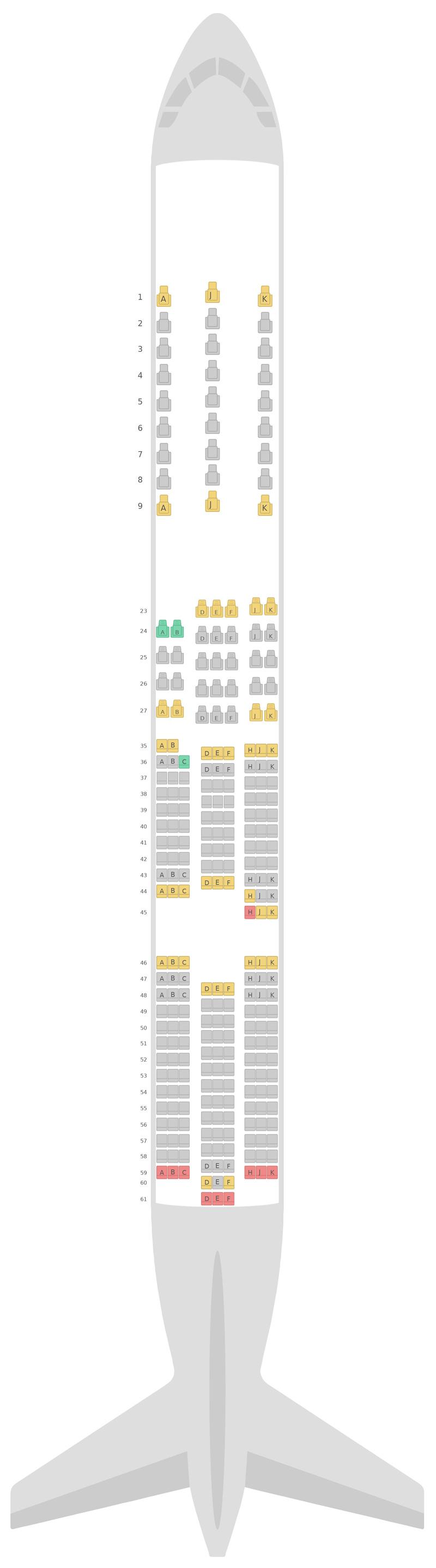 Схема салона Боинг 787-9 (789) v2 Air New Zealand