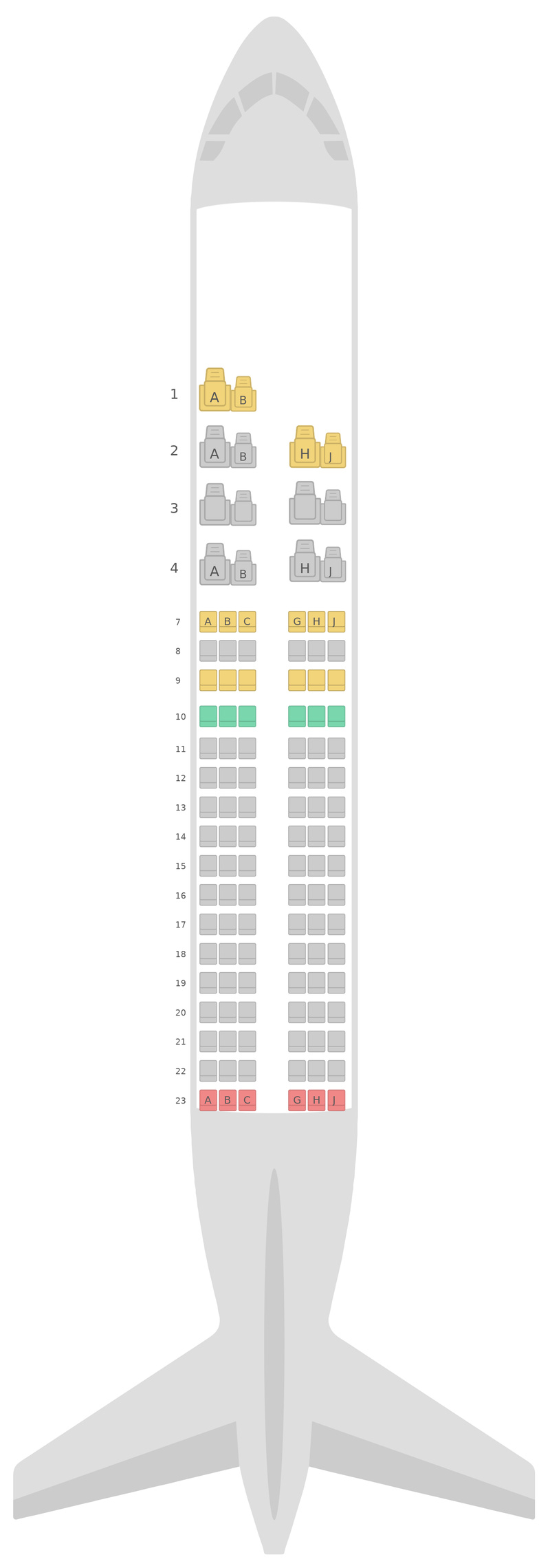 Seat Map Royal Jordanian Airlines Airbus A319