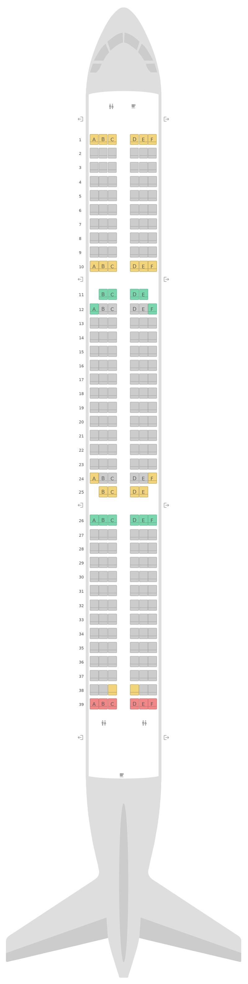 Sitzplan Airbus A321 v2 Jetstar Airways