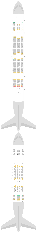 Mapa de asientos Airbus A380-800 (388) Lufthansa