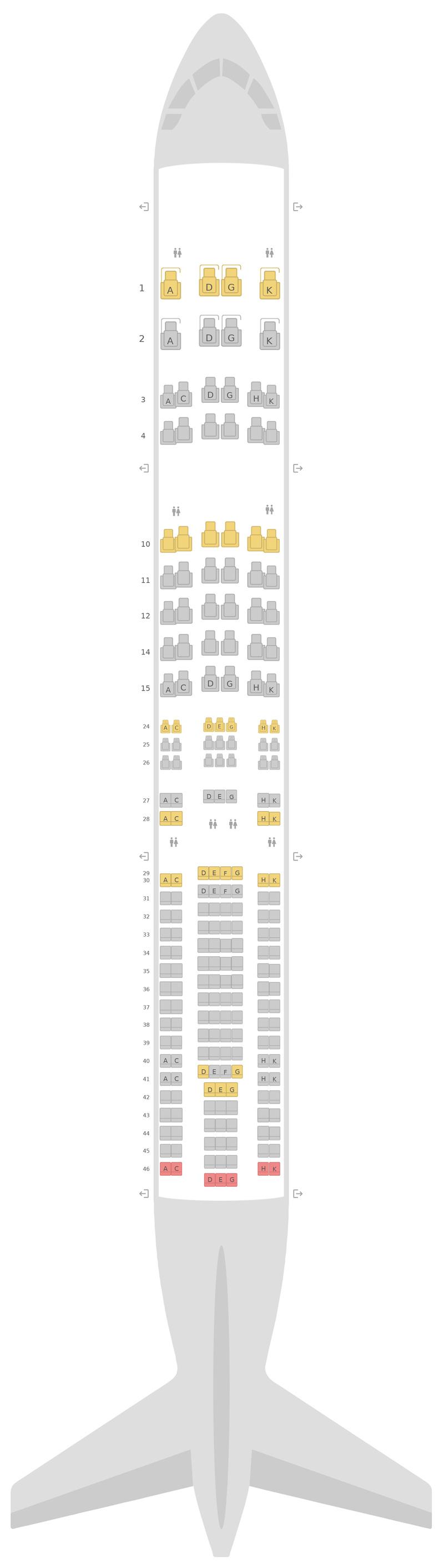 Схема салона Аэробус А330-300 (333) v2 Люфтганза