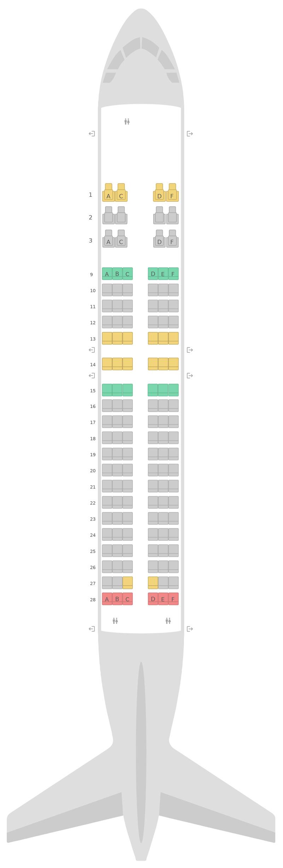 Sitzplan Airbus A320 v1 Qatar Airways