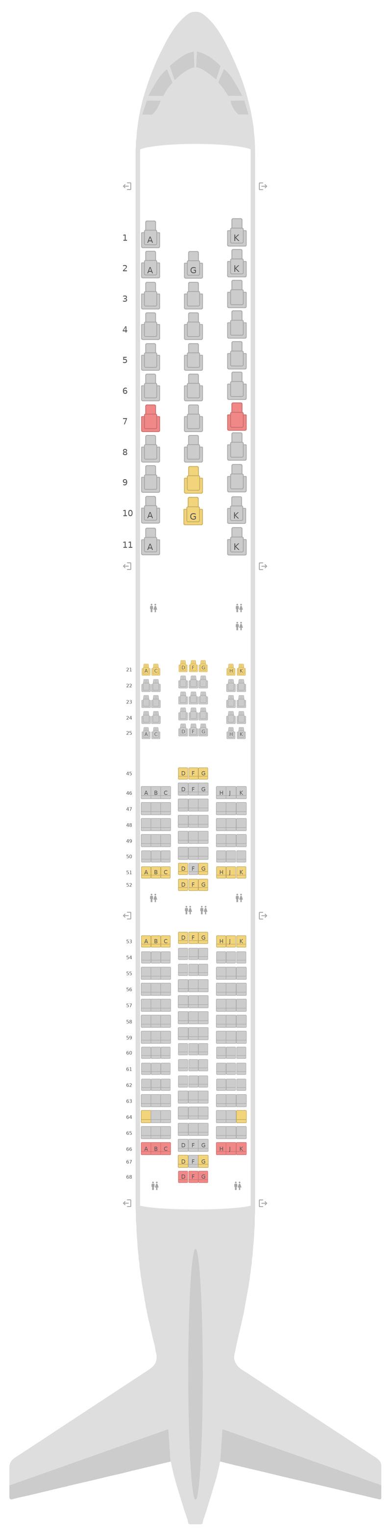 Seat Map Virgin Atlantic Boeing 787-9 (789)