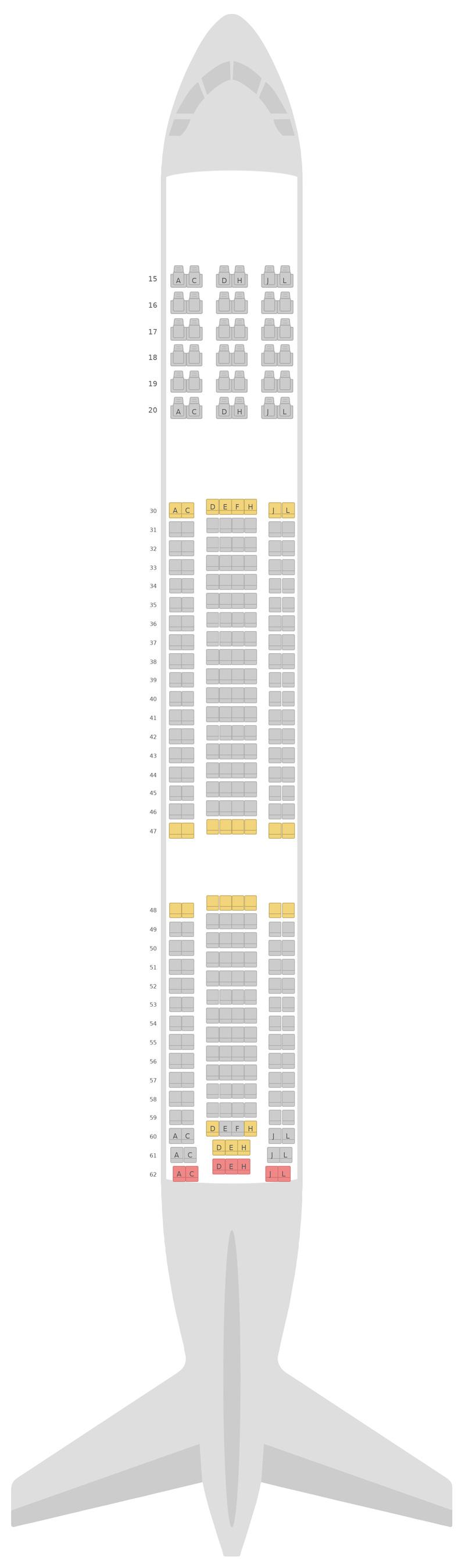 Seat Map Saudi Arabian Airlines Airbus A330-300 (333) v1