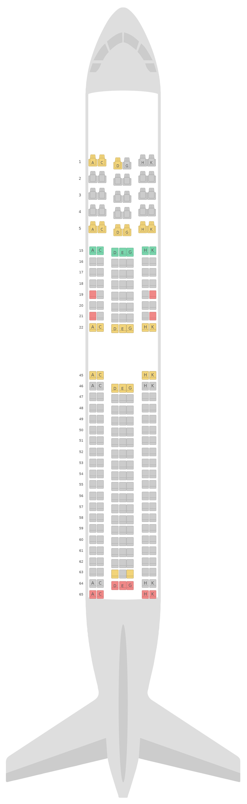 Схема салона Боинг 767-300ER v4 Японские авиалинии