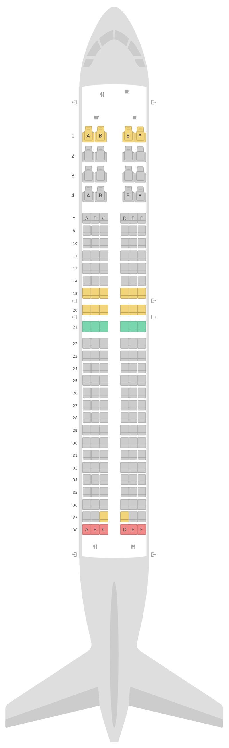 Seat Map United Boeing 737-800 (738) v1