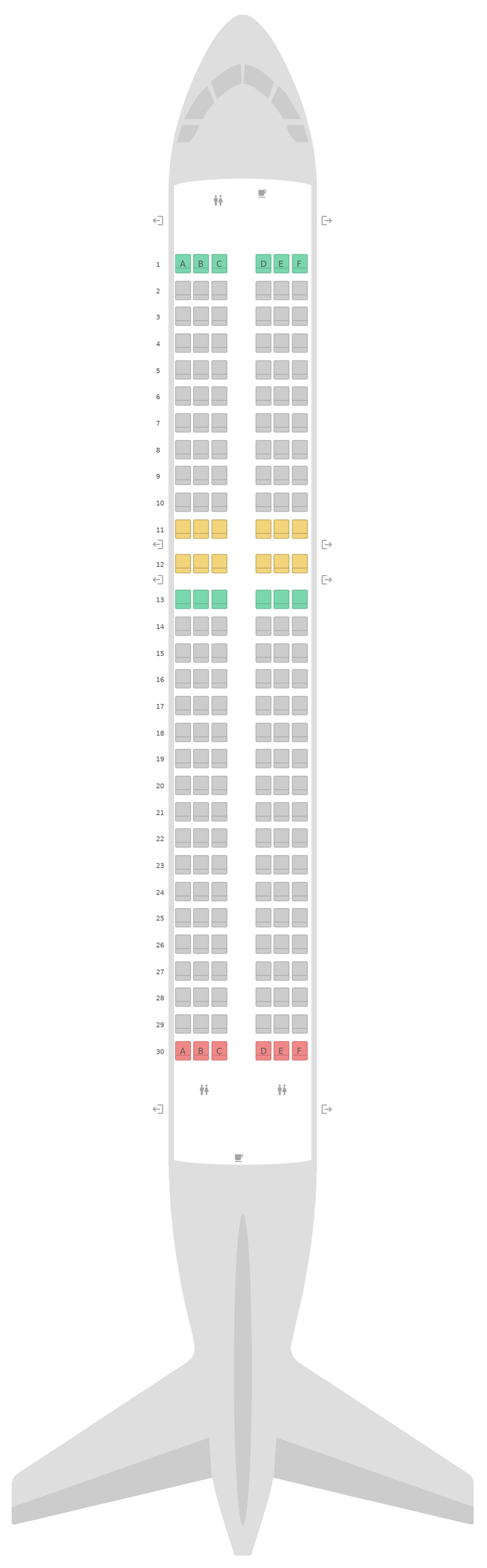 Seat Map Scoot Airbus A320