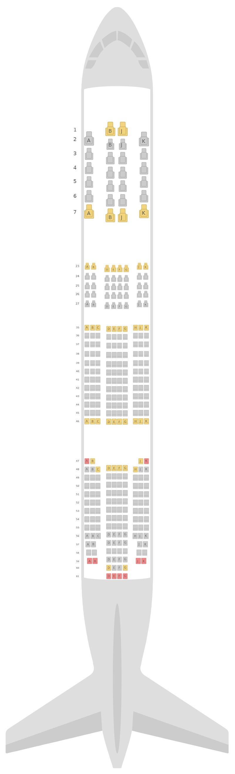 Схема салона Боинг 777-200 (777) Air New Zealand
